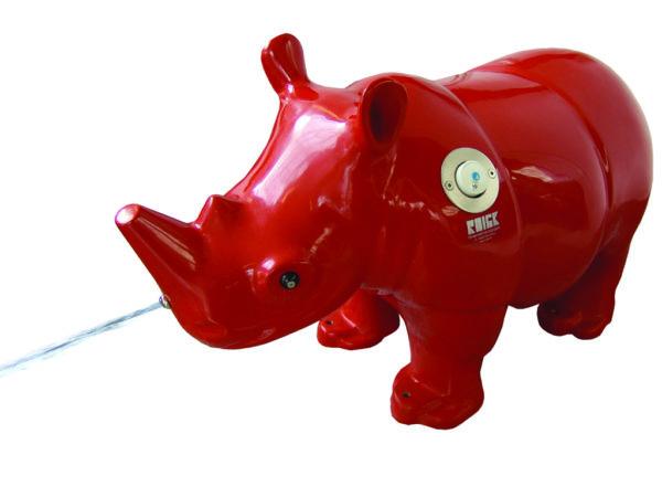 Bubu Wasserspieltier Nashorn rot 3D I