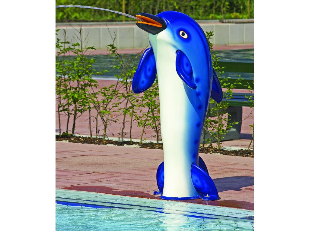 Flippo Wasserspeiender Delfin vorn Milieu I