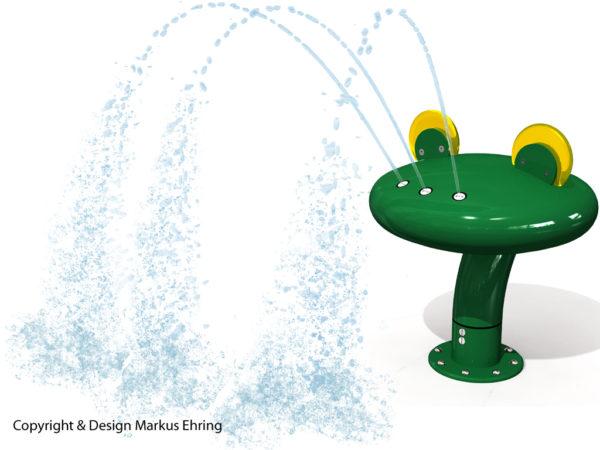 Frosch Wasserspiel Rendering Wasser I