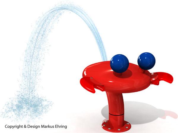 Krabbe Wasserspiel Rendering Wasser I