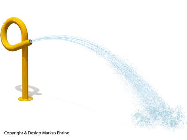 Loopkanone sonnengelb Wasserkanone Rendering Wasser I
