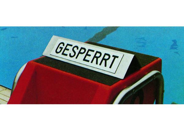 R771154E Schild Gesperrt I
