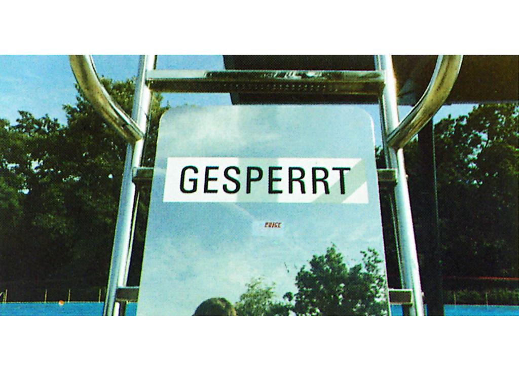 R771155 Schild Gesperrt I