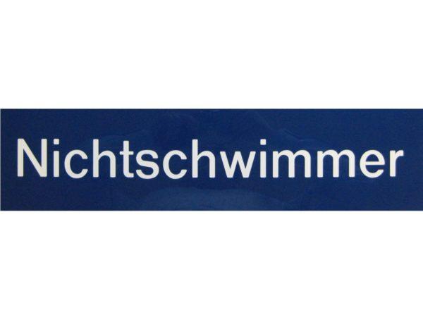 R771158 Resopalschild Schwimmer Nichtschwimmer 2I
