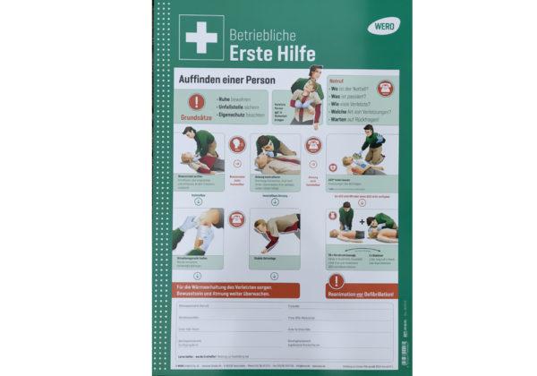 R771206 Schild Erste Hilfe 2018 I