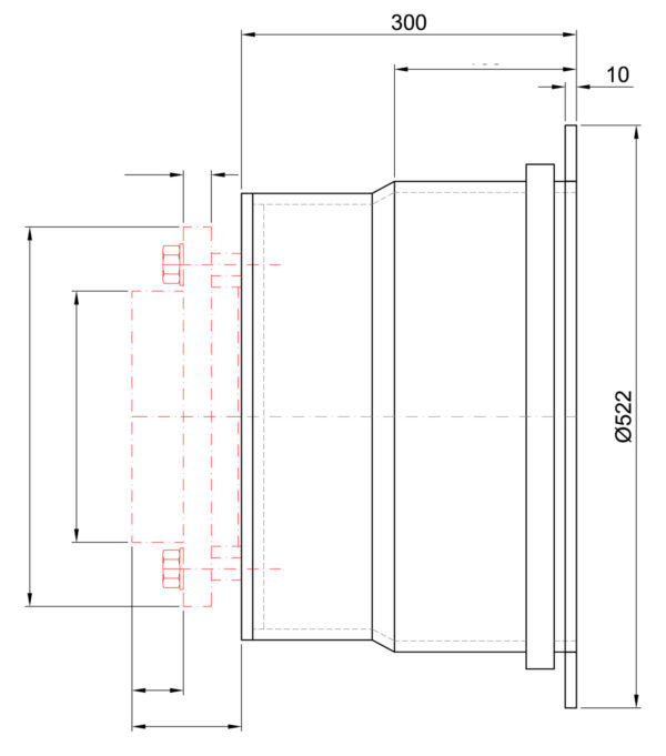 R83070 ROIGK Ansaugsystem Wandeinbau links Zeichnung Druck scaled