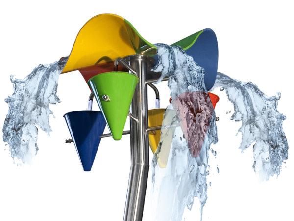 R8720 Wasserspiel GfK Blume Kegel Ausschnitt 3D I