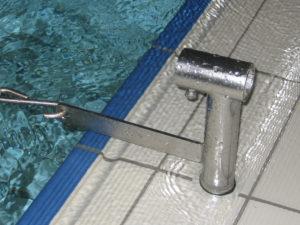 Schwimmleinen Halter