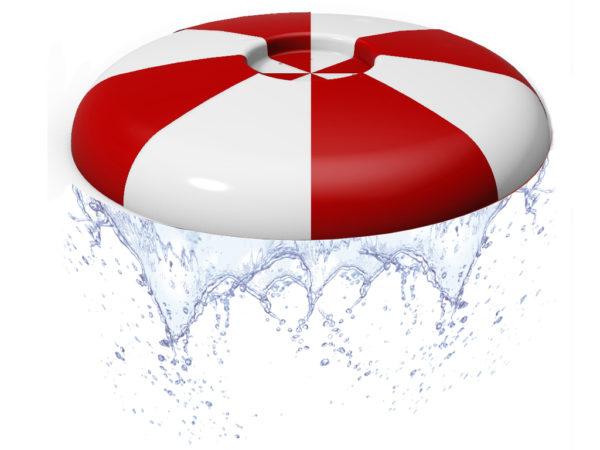 ROIGK Wasserpilze rot weiss I 5