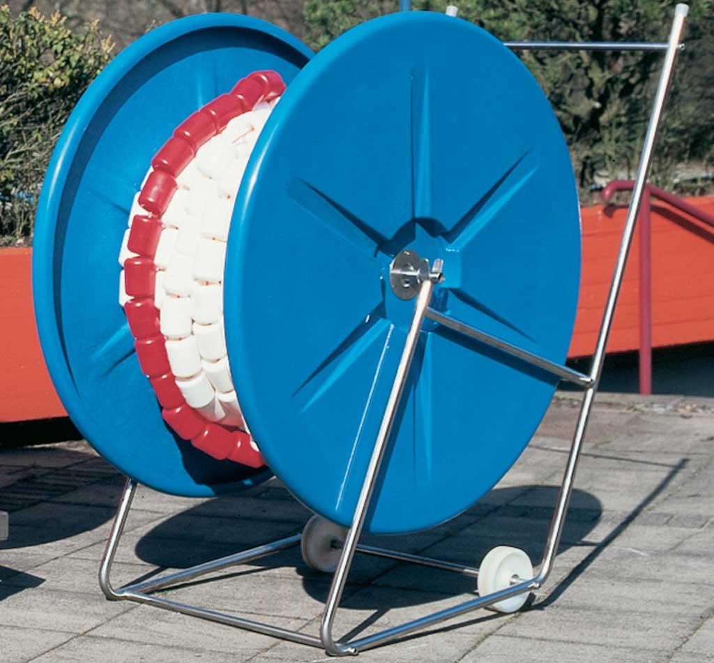Leinen-Trommel mit Leinenwagen für Schwimmbahnleinen