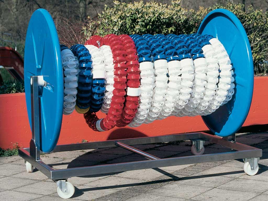 Großer Leinenwagen für Schwimmbahnleinen