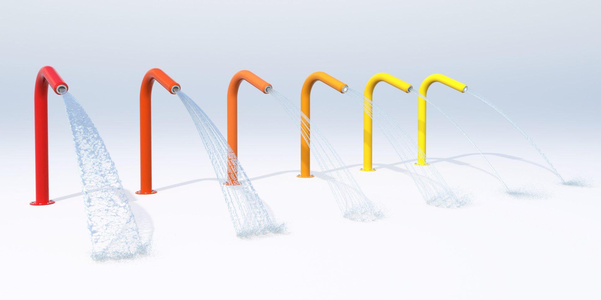 Bunte Universal Wasserspeier für Schwimmbäder