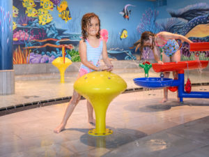 Water attractions for leisure pools and spray parks