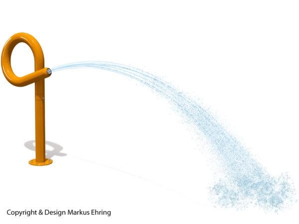 Loopkanone orange Wasserkanone Rendering Wasser I