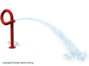 Loopkanone sommerrot Wasserkanone Rendering Wasser I